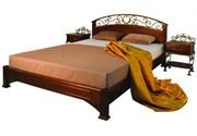 """Кровать  """"Омега Люкс""""Камелия  без спинки в ногах"""