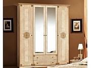 Шкаф 4-х дверный Рома (беж)